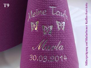 ♥ 50 bedruckte Taufservietten mit Name+Datum+Motiv für die TAUFE//Baby//Servietten