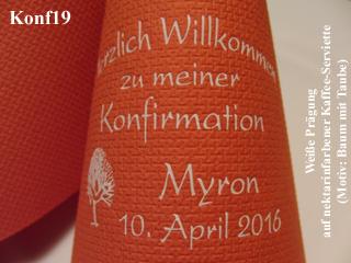 Kaffeeservietten für//zur KONFIRMATION 50 edel bedruckte Servietten mit Namen