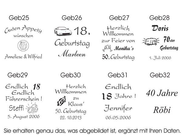 Serviettendruck//Party ♥ 50 mit Namen bedruckte Dinner-Servietten für jede Feier