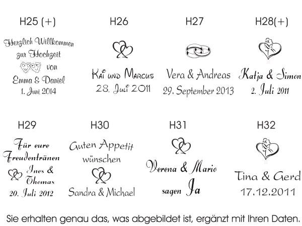 individuell bedruckte servietten mit ihren namen und versch motiven f r ihre hochzeit. Black Bedroom Furniture Sets. Home Design Ideas